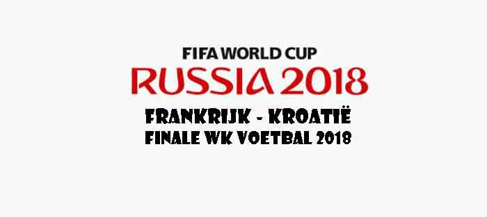 Frankrijk Kroatië Opstelling Prognose Finale WK Voetbal 2018