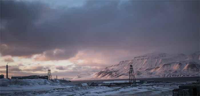 Longyearbyen - Hoofdplaats van Spitsbergen Svalbard